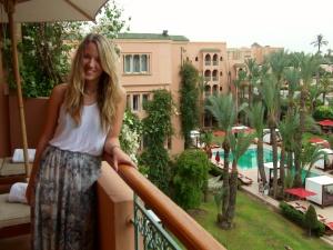 My beautiful balcony overlooking the chic pool area