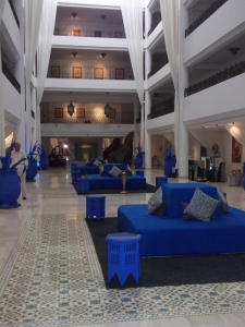 Part of the hotel's interior dedicated to Yves Saint Laurent's iconic Majorelle Bleu
