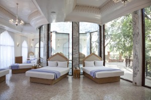 The heavenly relaxation room in the Es Saadi Palace Spa