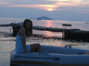 Me and the gorgeous sunset behind turtle Island...