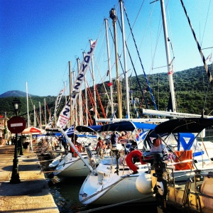 Day 1 at Nidri, getting settled into the yachts before our week on flotilla