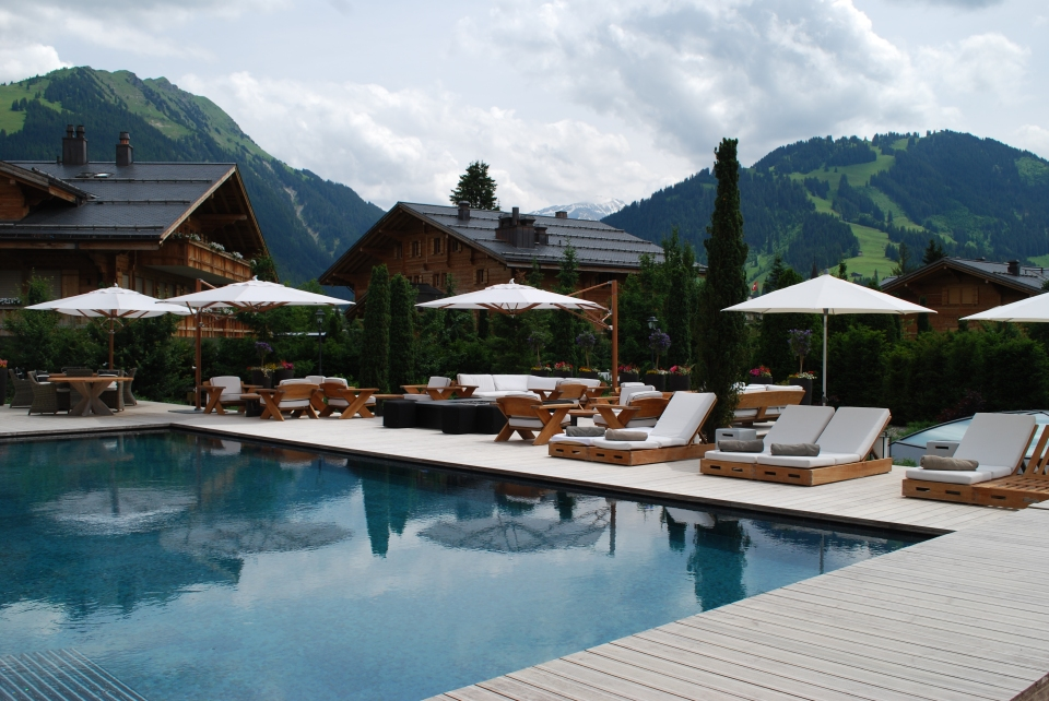 The heated outdoor pool was accessible through the spa. The perfect place to relax post massage.