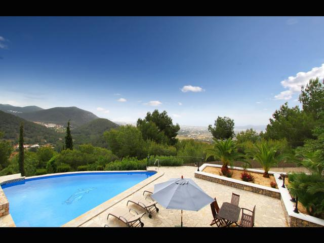 The amazing view from our villa - get me in that pool!