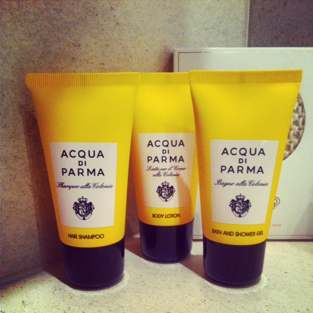 We were all loving the endless supply of Acqua di Parma in the suites!