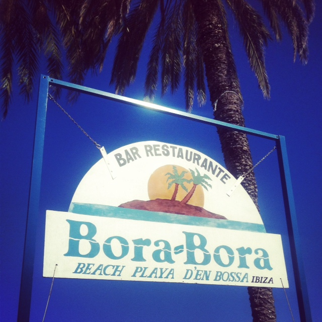 Bora Bora is located on the Playa d'en Bossa beach front and was one of my favourite bars along the beach.