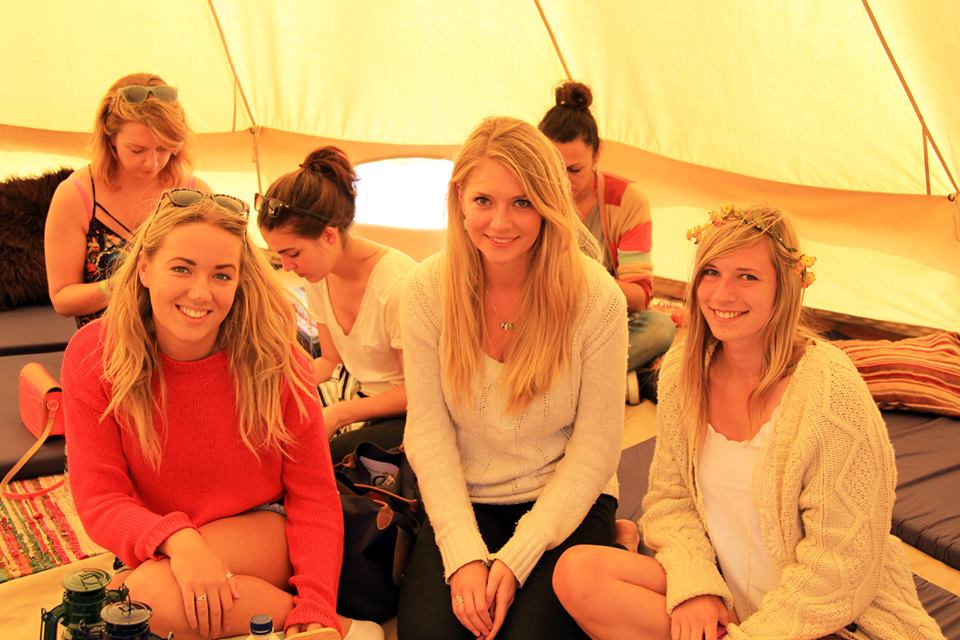 Me, Virginia and Kirsten (from left to right), in the Tipi