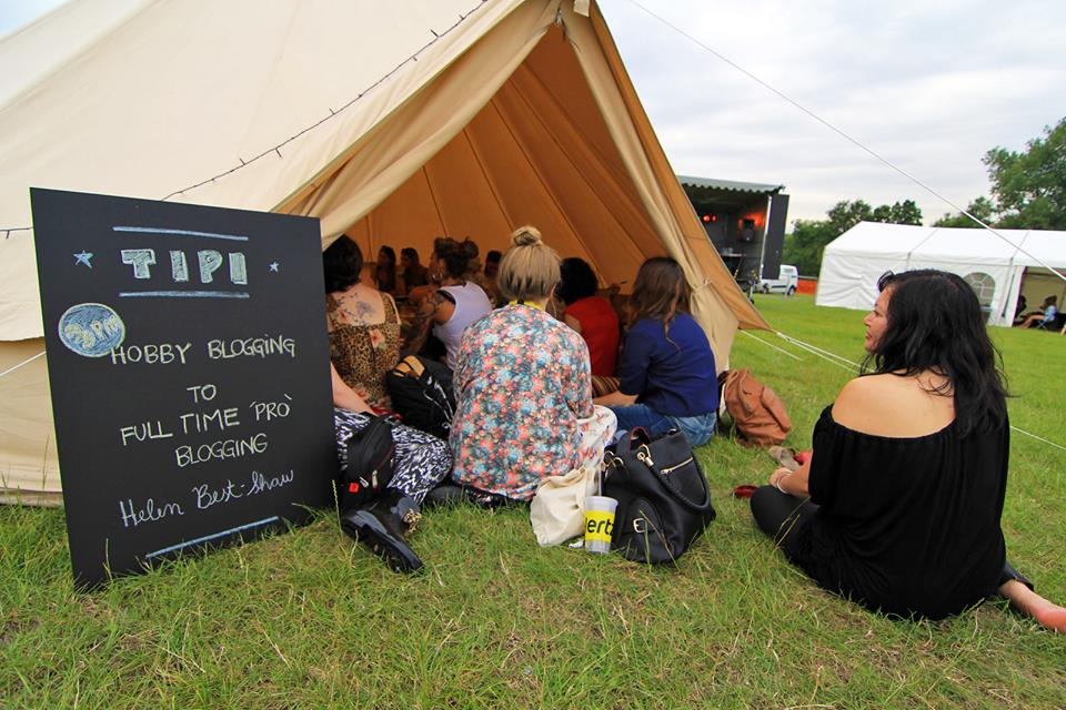 I loved the intimate events in the tipi, where everyone had a chance to speak up and share their views. Image courtesy of Macca Sherifi