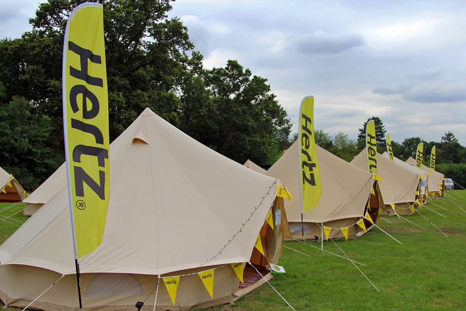 The Hertz VIP tents from the outside. Image courtesy of Macca Sherifi